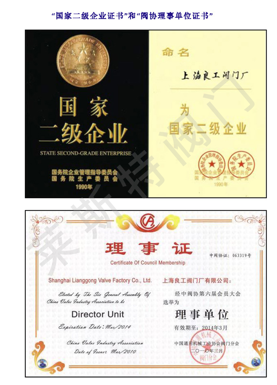 二级证书+理事单位